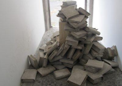 Représentation des livres en béton